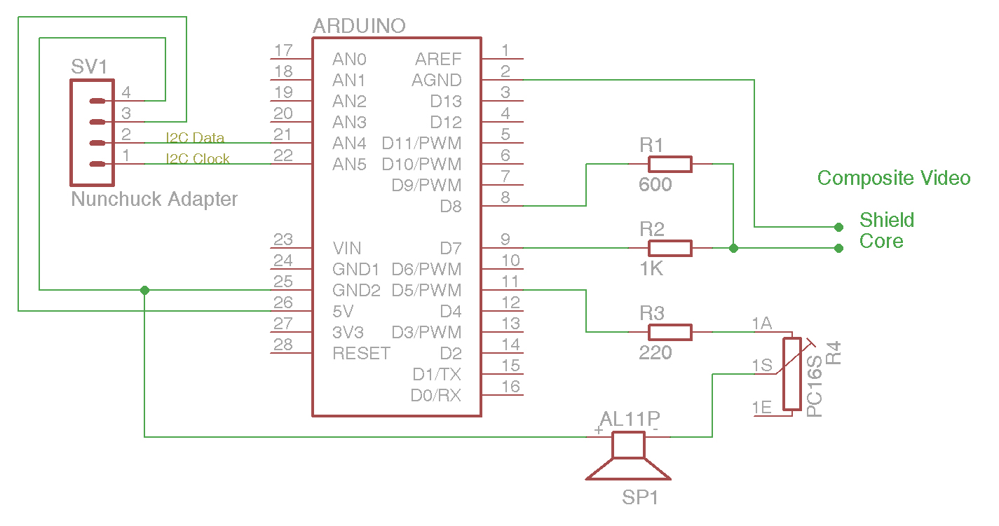 Pauls Arduino Projects And Ideas To Tv Wiring Diagram Driving A Speaker Reading Nunchuck The Circuit